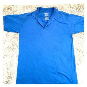 Gildan Dry Blend Blue Polo Shirt Men's size Medium